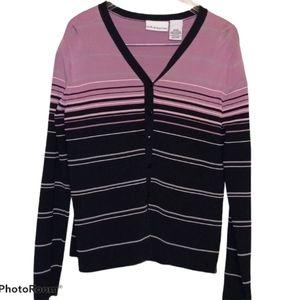 Croft & Barrow Striped Shirt - Button Down Purple